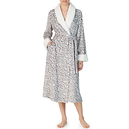 Anne Klein Long Sleeve Plush Wrap Robe