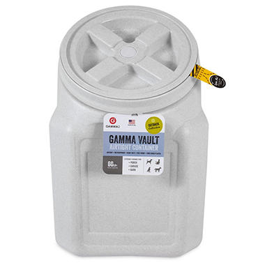 Gamma Vault Stackable 60 Lb Airtight Pet Food Container Sams Club