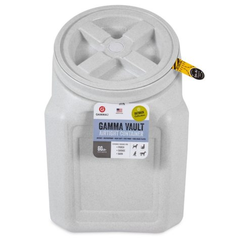 Gamma Vault Stackable 60 lb. Airtight Pet Food Container