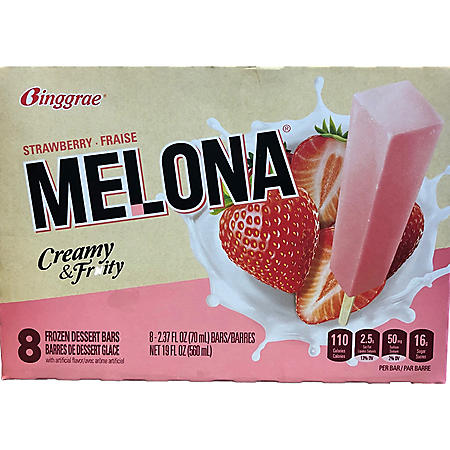Binggrae Melona Strawberry Ice Bars (2.8 fl. oz. bars, 8 ct.)