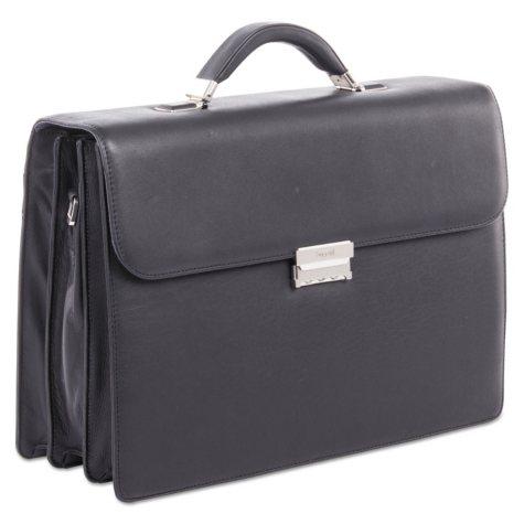 bugatti Sartoria Medium Briefcase, Leather, Black