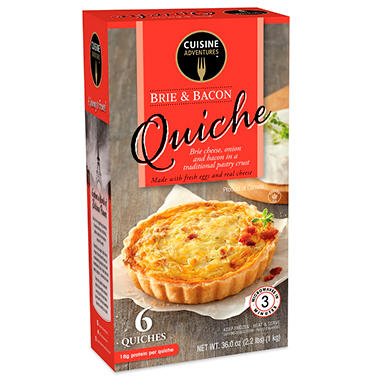 Cuisine Adventures Brie & Bacon Quiche (6 oz., 6 ct.)