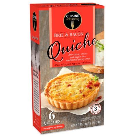 Cuisine Adventures Brie & Bacon Quiche (6 oz., 6 ct.)