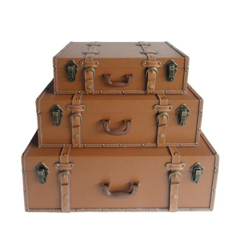 Brass 3-Piece Trunk Set