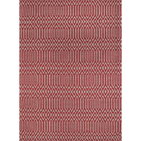Renwil Serengeti Rug, Red and White