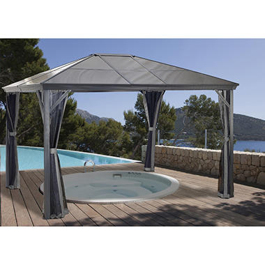 Sojag Verona Hardtop Gazebo and Coordinating Curtains(Various Sizes)