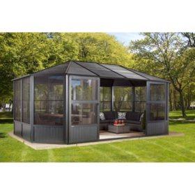 sojag charleston sun shelter 12 x 18 - Metal Roof Gazebo