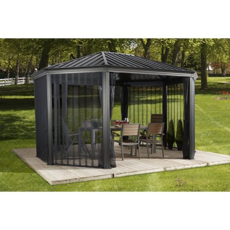Sojag Komodo Sun Shelter with Mesh Wall, 12 x 18