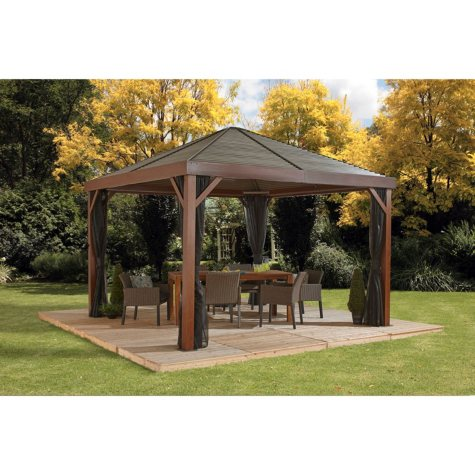 Sojag South Beach 12 x 12 Wood Effect Sun Shelter