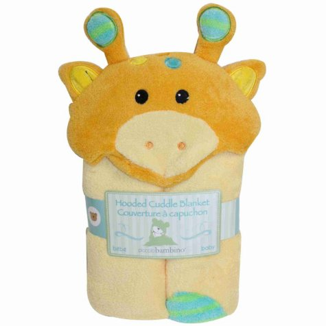 Piccolo Bambino Hooded Cuddle Blanket - Yellow Giraffe