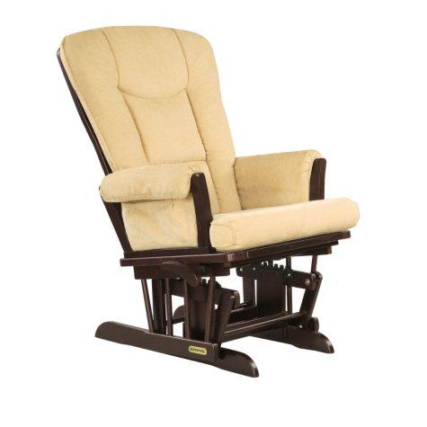 Shermag Victoria Glider Recliner Chair, Espresso/Biscuit