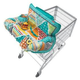 Infantino Compact Shopping Cart Cover, Aqua