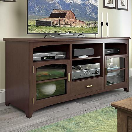 """West Lake 60"""" TV / Component Bench - Dark Espresso"""