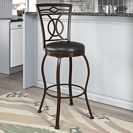 Jericho Stool, Dark Brown Leather (Assorted Sizes)