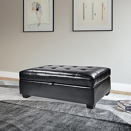 Antonio Storage Ottoman (Assorted Colors)