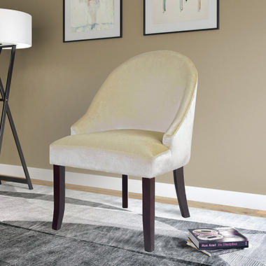 Antonio Accent Chair - Soft Cream Velvet