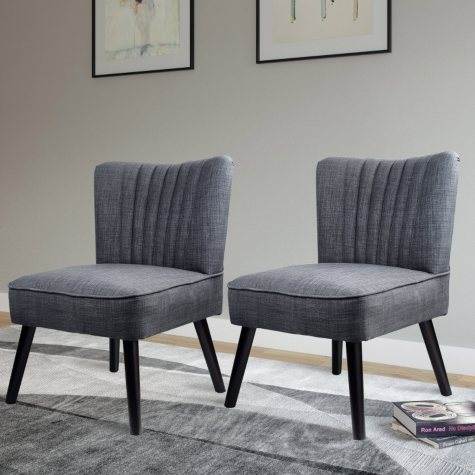 Antonio Accent Chair - Woven Grey (2 pk)