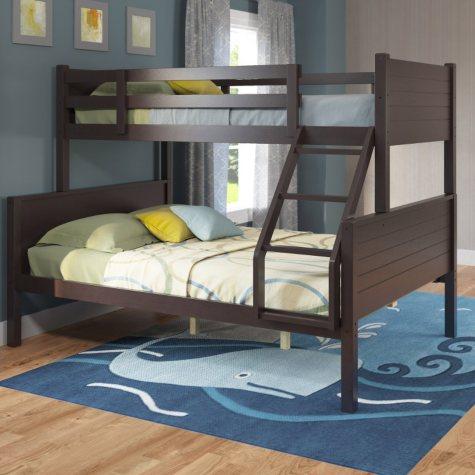 Belmont Dark Cappuccino Bunk Bed (Choose Size)