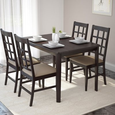 Atwood Dining Table with 4 Taupe Stone Leatherette Seats & Dining Tables u0026 Sets - Samu0027s Club