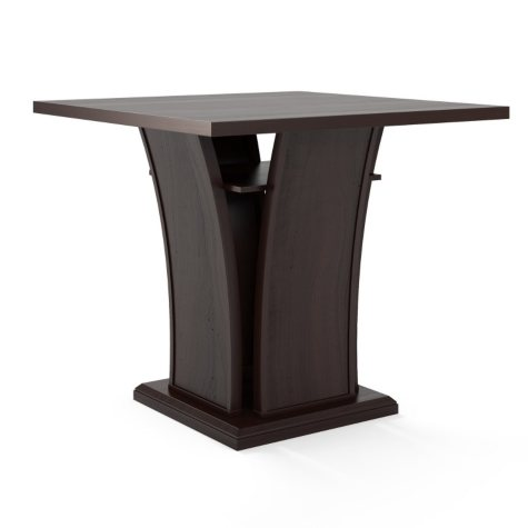 """Bistro 36"""" Counter Height Cappuccino Dining Table"""