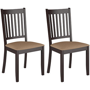 Atwood Cappuccino Stained Dining Chairs with Microfiber Seat (2 pk)