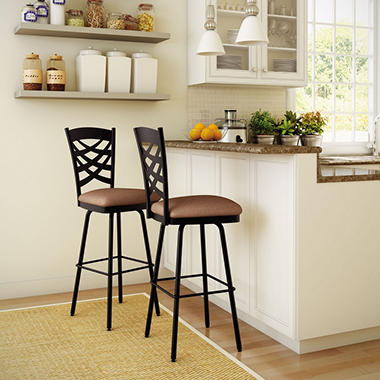 Amisco Nest Swivel Metal Stool