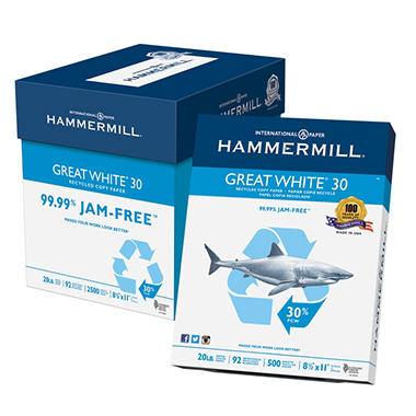 hammermill great white copy paper Shop for discount office supplies and furniture in a friendly, easy-to-use environment more than just low prices but friendly, helpful, experienced staff.