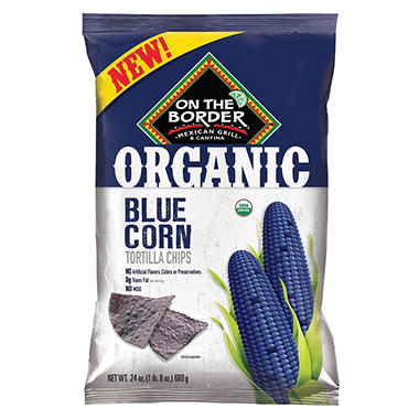 On The Border Organic Blue Corn Tortilla Chip (24 oz.)