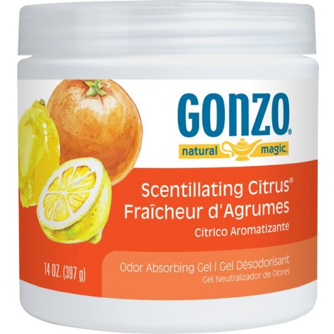 Gonzo Natural Magic Citrus Odor Eliminator Gel (14oz.)