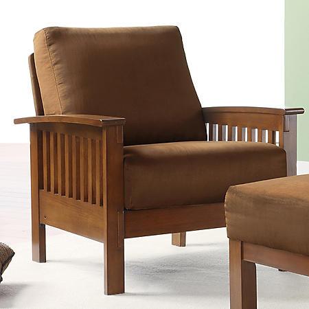 Calantha Microfiber Chair - Rust