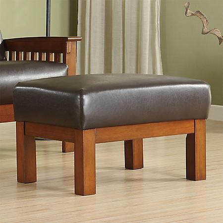 Calantha Faux Leather Ottoman