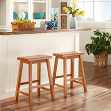 "Alta 24"" Saddle Stool (2 pk) (Choose a Color)"