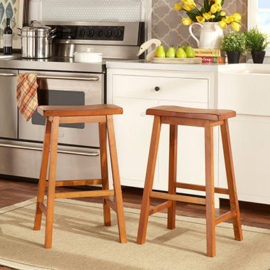 Alta 29 Quot Saddle Stool 2 Pk Choose A Color Sam S Club