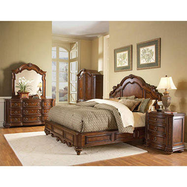 Aubrey Low Profile Bedroom Set - 4 pc.