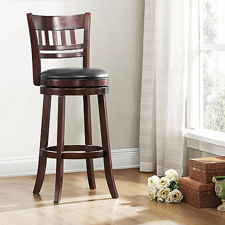"Marion 29"" Swivel Stool Window Back (Choose a Color)"