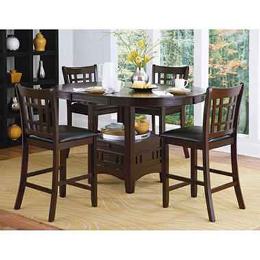 Superior Uptown 5Pc Counter Height Dining Set