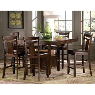 p frame counter dining height industrial metal cooper inspired sets table set