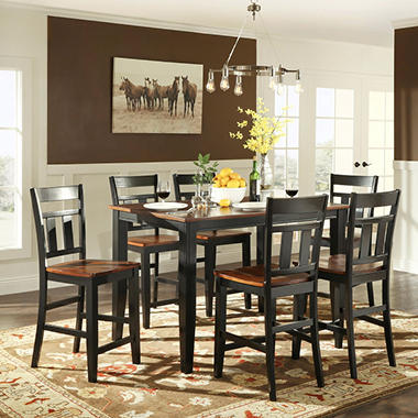 Caden Counter Height Dining Table And 6 Chairs Set