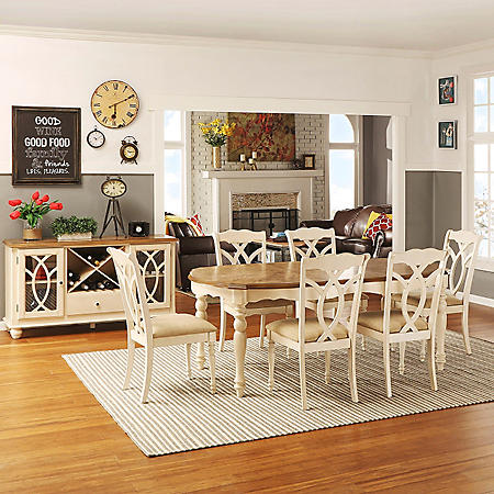 Ballad Dining Table and 6 Chairs Set