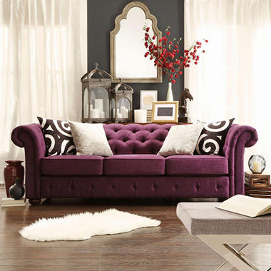 Genial Kyle Tufted Linen Sofa   Choose Color