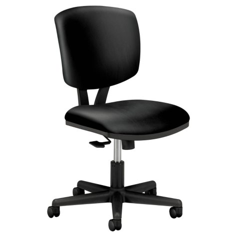 HON Volt Series Leather Task Chair, Black