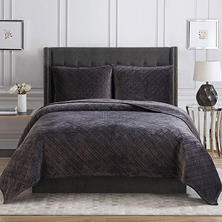 Christian Siriano Luxury Velvet King Quilt Set (Assorted Colors)