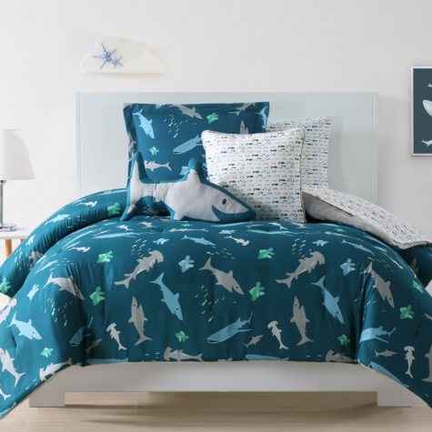 Laura Hart Sharks and Minnows Kids' Bedding Set (Assorted Sizes)