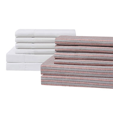 Brooklyn Loom 12-Piece Sheet Sets (Assorted Colors And Sizes ...