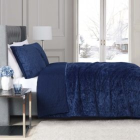 Christian Siriano Luxury Velvet Quilt Set (Assorted Colors)