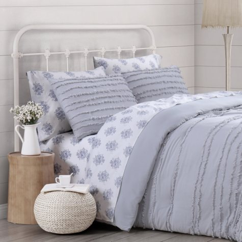 Prairie by Rachel Ashwell Textured Stripe Comforter Set (Assorted Colors and Sizes)