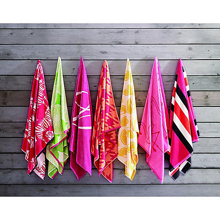 "Chrisitian Siriano Oversized Jacquard Beach Towels, 40"" x 72"" (Assorted Styles)"