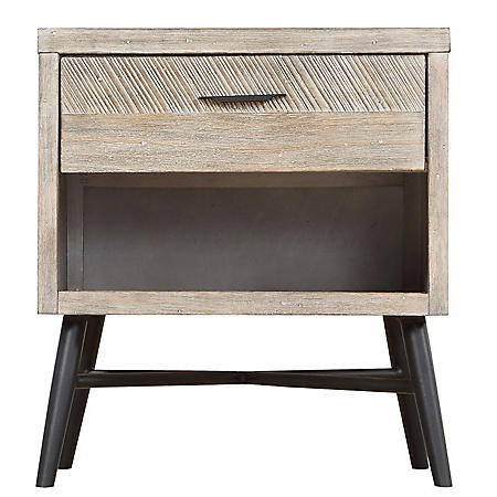 Nova Square End Table, Sterling Gray