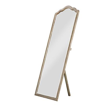 Interlude Floor Mirror, Sandstone Gray