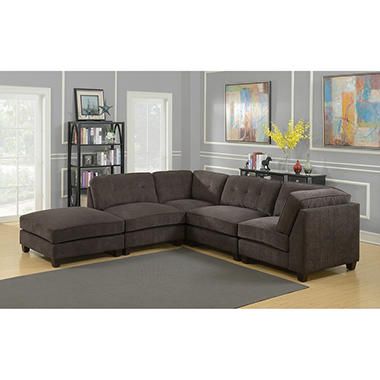 Thompson Modular Configurable Upholstered Sofa With Ottoman
